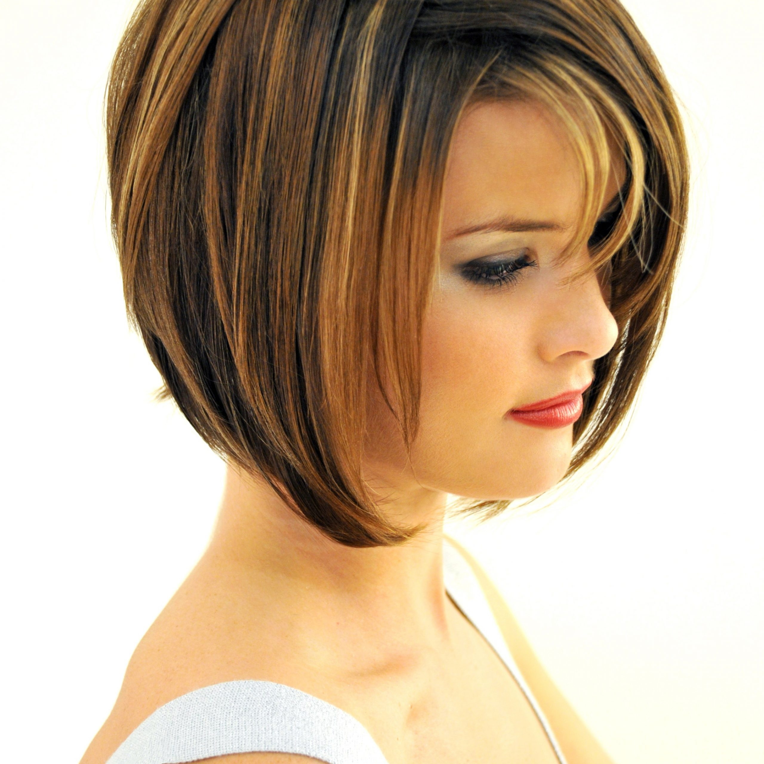 Fashionable A Very Short Layered Bob Hairstyles Throughout Short Bob Hairstyles With Bangs: 4 Perfect Ideas For You (Gallery 10 of 20)