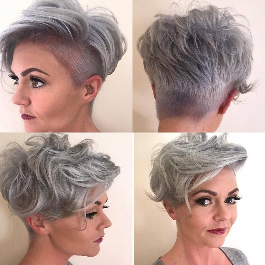 Fashionable Edgy & Chic Short Curls Pixie Haircuts For Stylish Pixie Haircut, 2018 Best Short Hair Styles For Women (View 12 of 20)