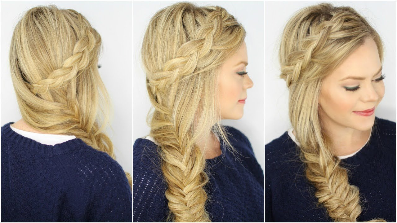 Fashionable Fishtail Side Braid Hairstyles With Dutch Fishtail Side Braid (View 13 of 20)
