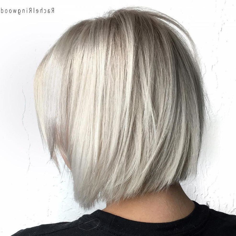 Fashionable One Length Short Blonde Bob Hairstyles In 45 Short Hairstyles For Fine Hair To Rock In 2020 (Gallery 7 of 20)