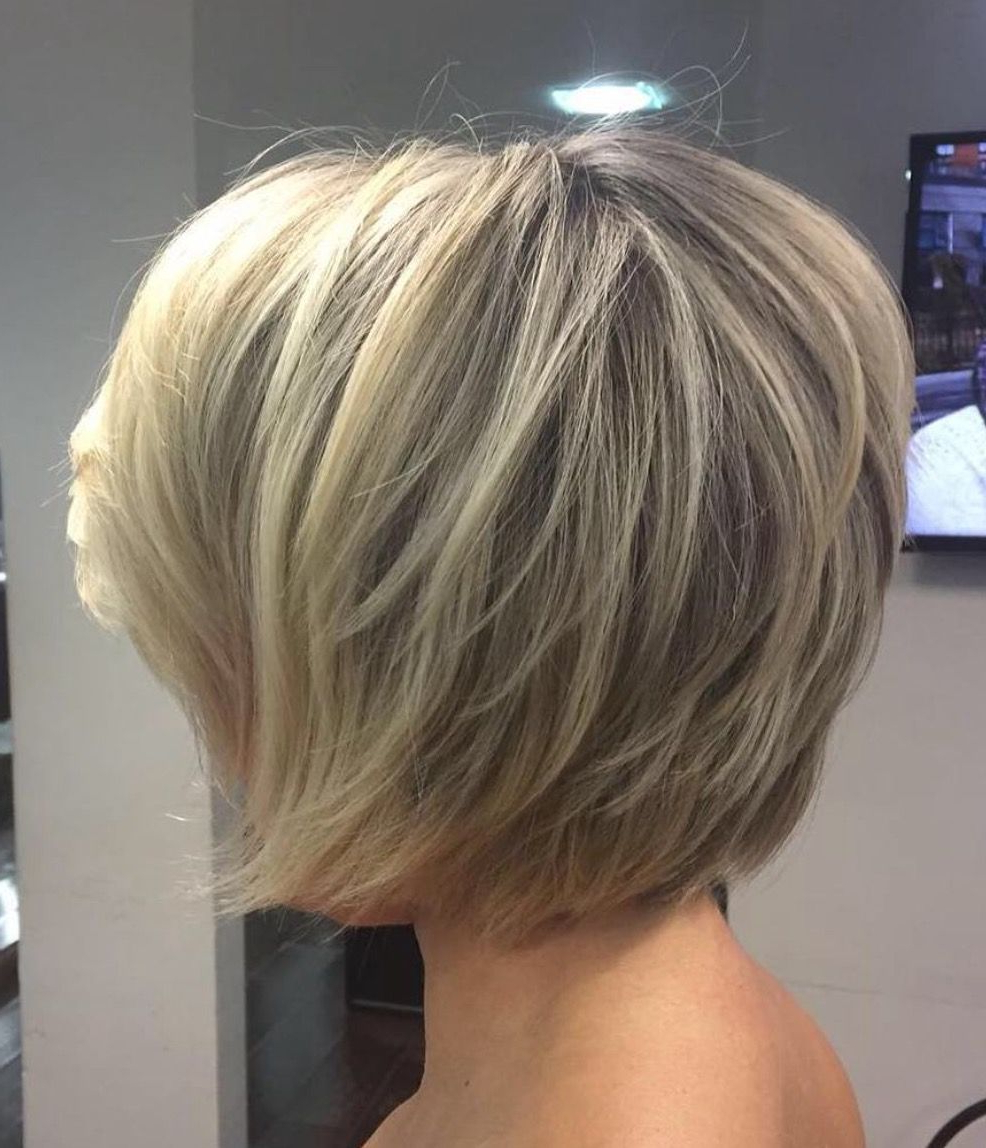 Fashionable Short Feathered Bob Crop Hairstyles In Pin On Sassy Cuts~ (View 2 of 20)