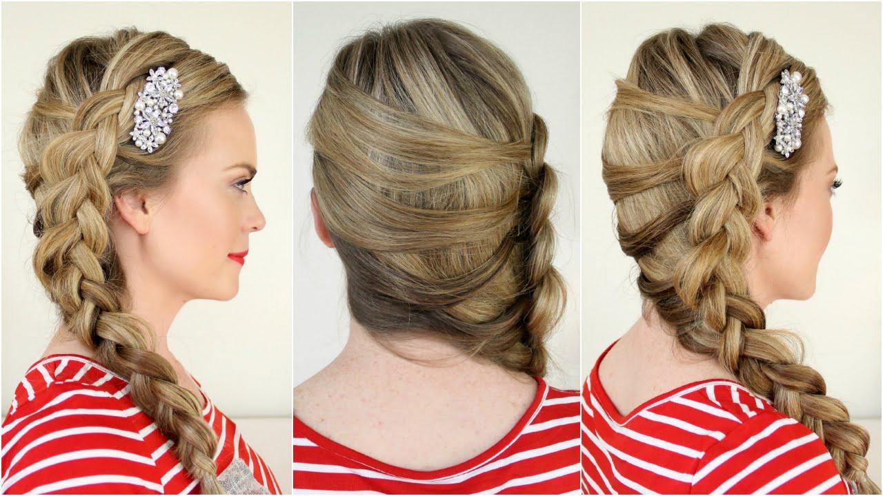 Fashionable Side Dutch Braid Hairstyles Inside Mermaid Side Dutch Braid (View 16 of 20)
