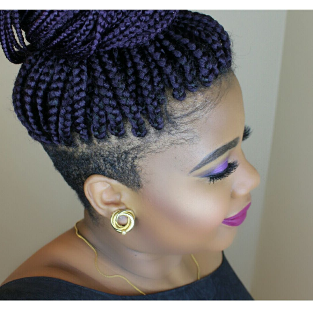 Fashionable Side Shaved Cornrows Braids Hairstyles Inside Braids With Shaved Sides (Gallery 10 of 21)