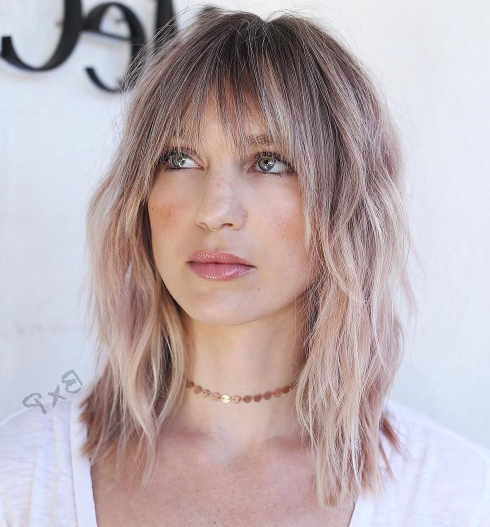 Fashionable Wispy Bob Hairstyles With Long Bangs For 60 Super Chic Hairstyles For Long Faces To Break Up The (Gallery 13 of 20)
