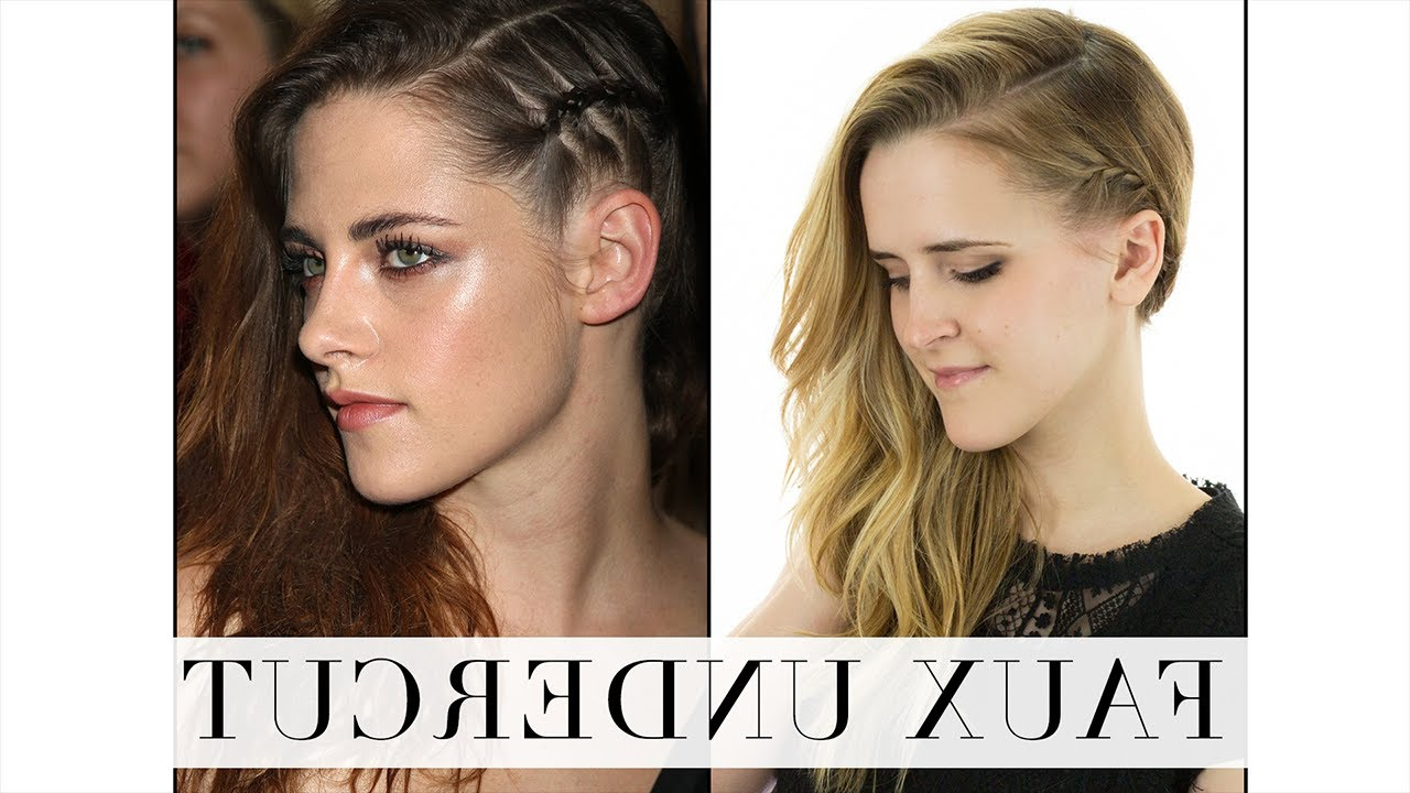 Faux Undercut Hair Tutorial With Regard To Well Liked Faux Undercut Braid Hairstyles (Gallery 9 of 20)