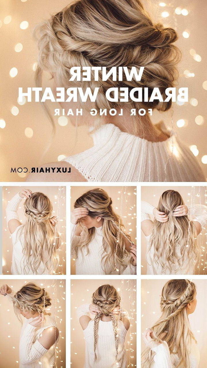 Favorite Braided Halo Hairstyles With Regard To Braided Halo Hairstyle: Easy Updo For Long Hair (View 12 of 20)