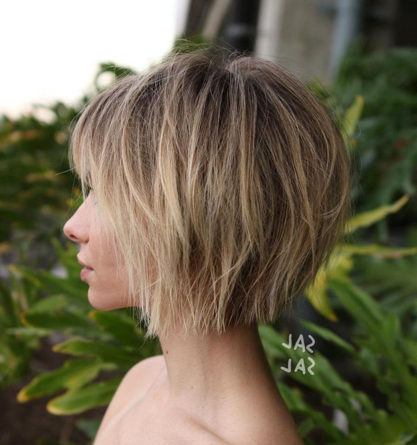 Favorite Shaggy Bob Hairstyles With Choppy Layers Intended For Pin On Hairstyles (View 8 of 20)