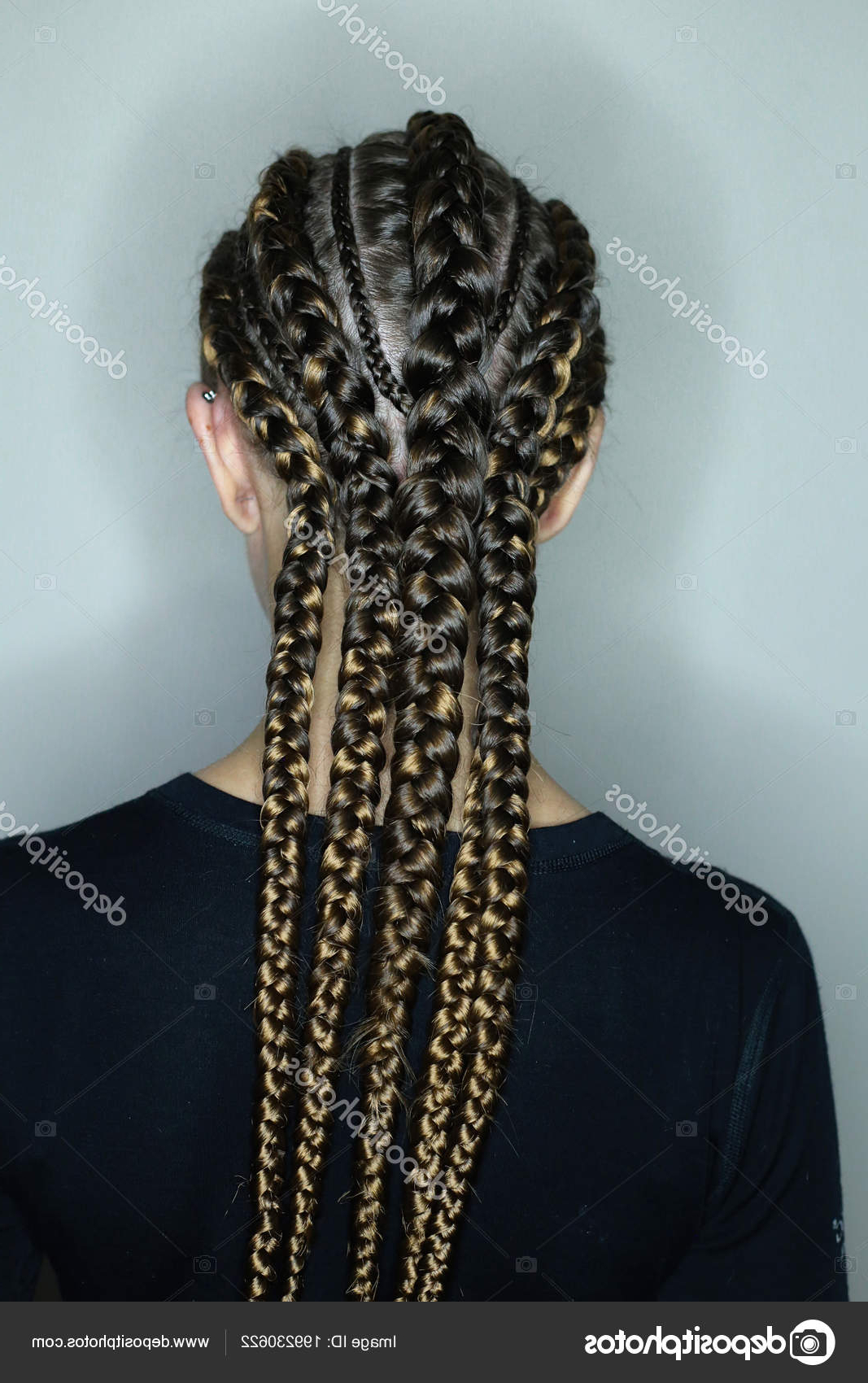 Favorite Thick Plaits And Narrow Cornrows Hairstyles Regarding African Hair Style European Hair Thick Thin Plaits Ranks (Gallery 7 of 20)