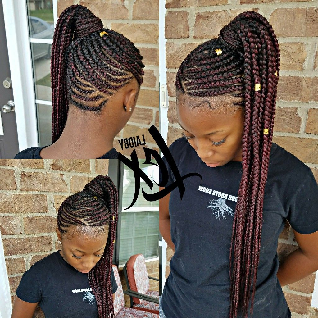 Feed In Braids In Favorite High Ponytail Braid Hairstyles (View 8 of 20)