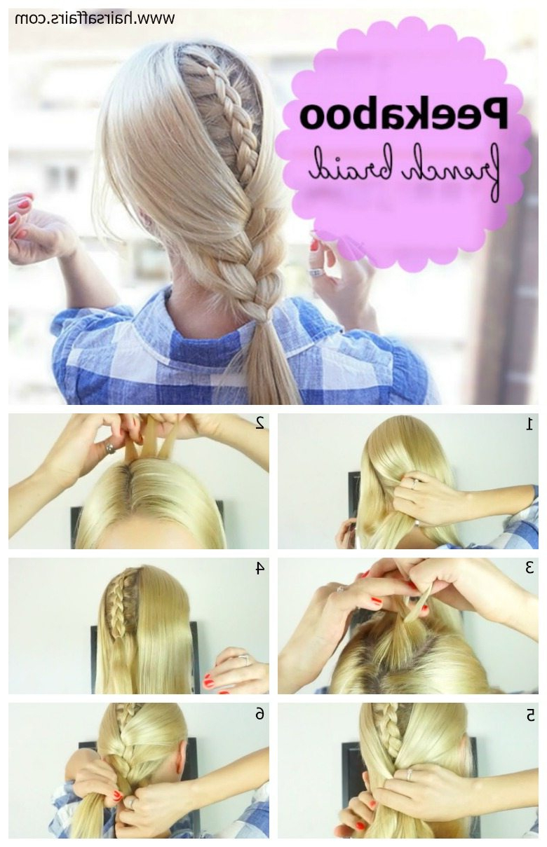 French Braid With A Twist – Hair Tutorial – Hairsaffairs Throughout Most Popular Peek A Boo Braid Hairstyles (Gallery 7 of 20)