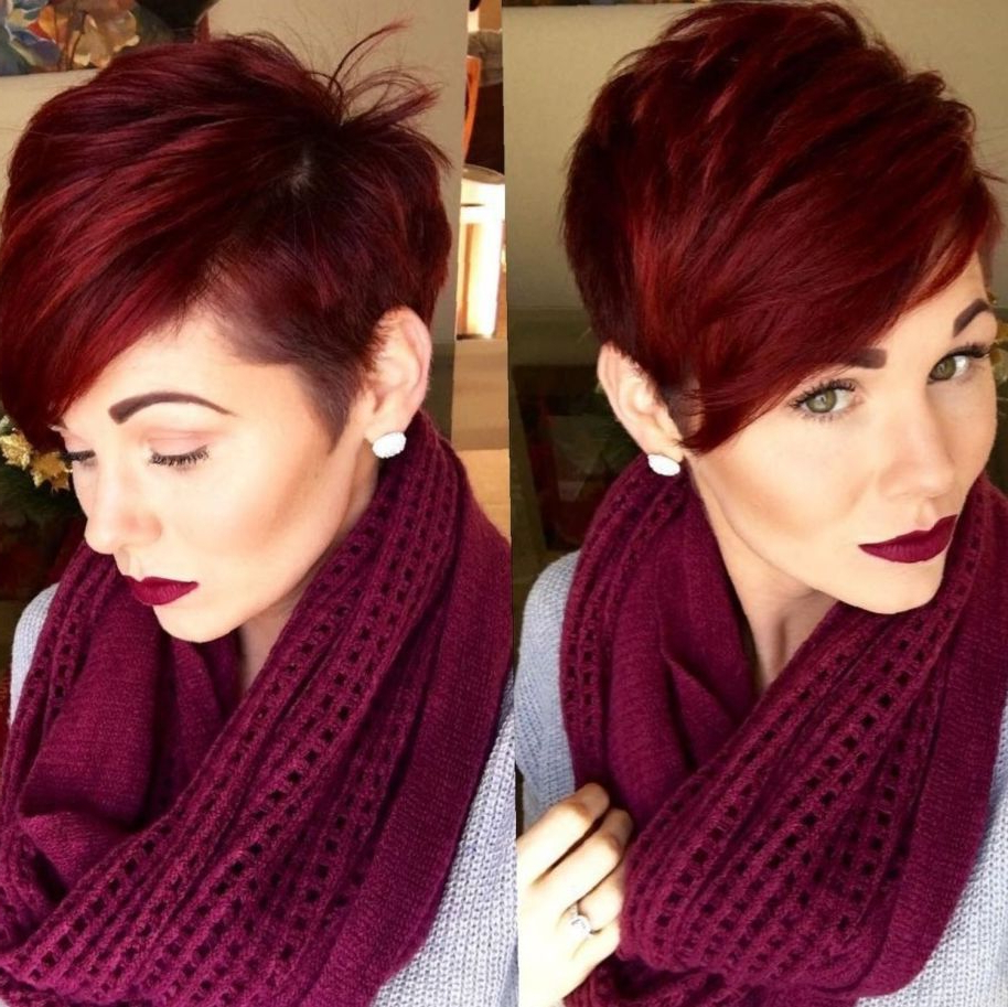 Hair In Favorite Plum Brown Pixie Haircuts For Naturally Curly Hair (View 14 of 20)