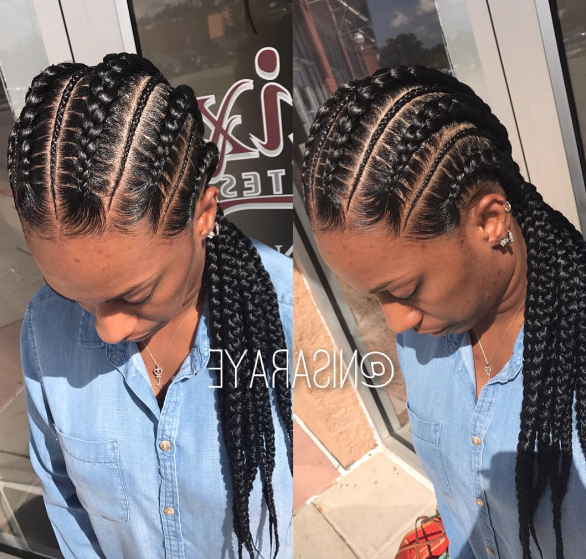 Hair Styles Throughout Most Recent Accessorized Straight Backs Braids (View 3 of 20)