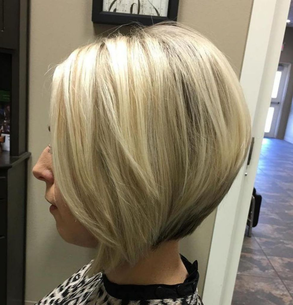Haircuts With Regard To Newest Sassy Angled Blonde Bob Hairstyles (View 7 of 20)