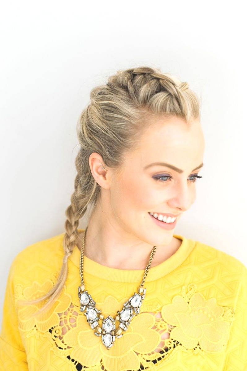 Hairstyles : Braided Faux Hawk Hairstyles Marvellous Braid With Popular Faux Hawk Braid Hairstyles (View 11 of 20)
