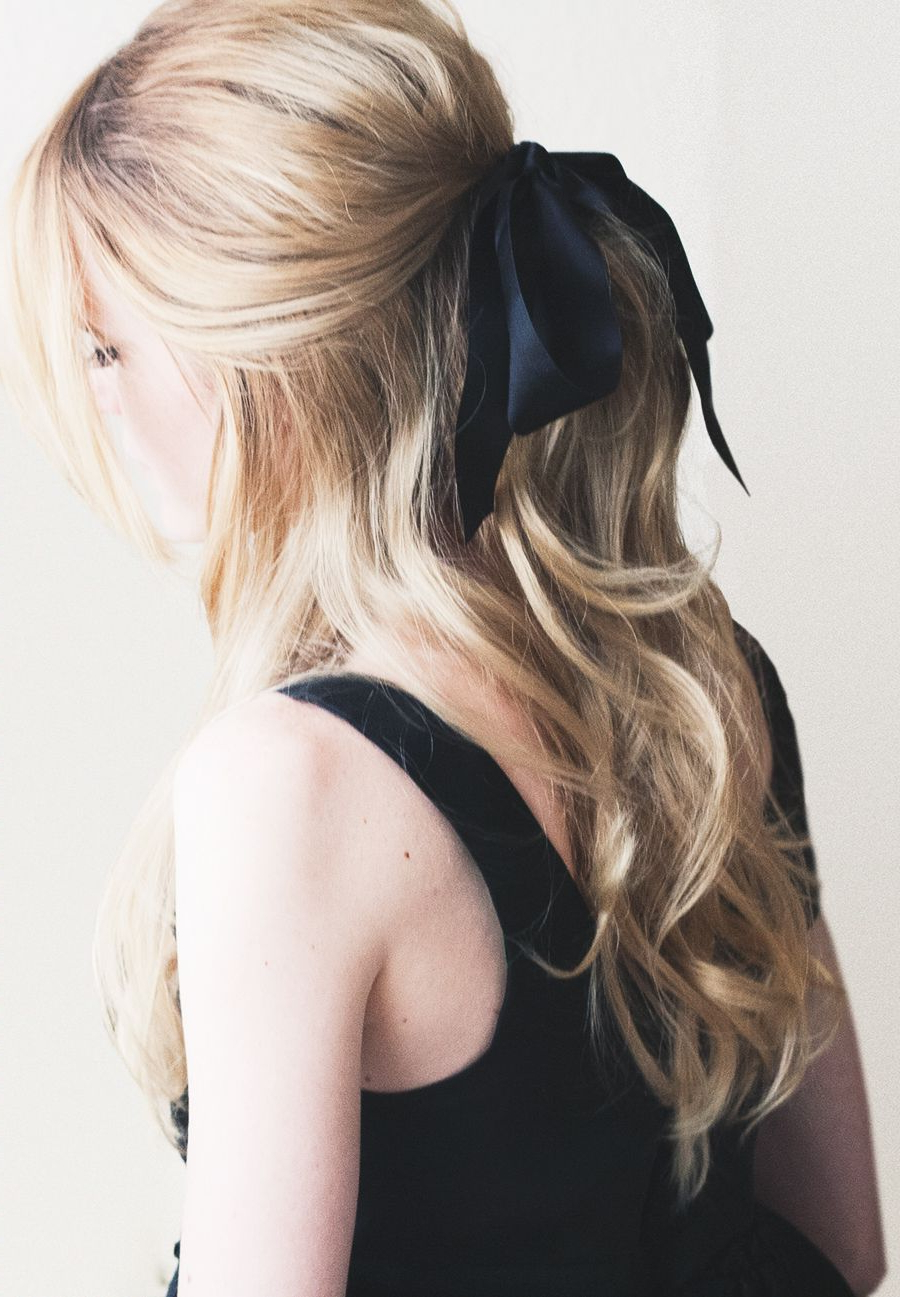 Hairstyles Throughout Most Up To Date Loosely Tied Braid Hairstyles With A Ribbon (View 7 of 20)
