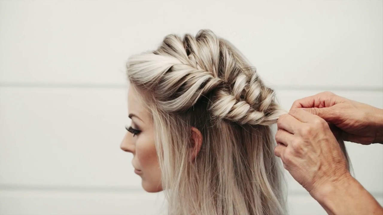 Half Up Side Fishtail Braid Within Widely Used Fishtail Side Braid Hairstyles (View 10 of 20)