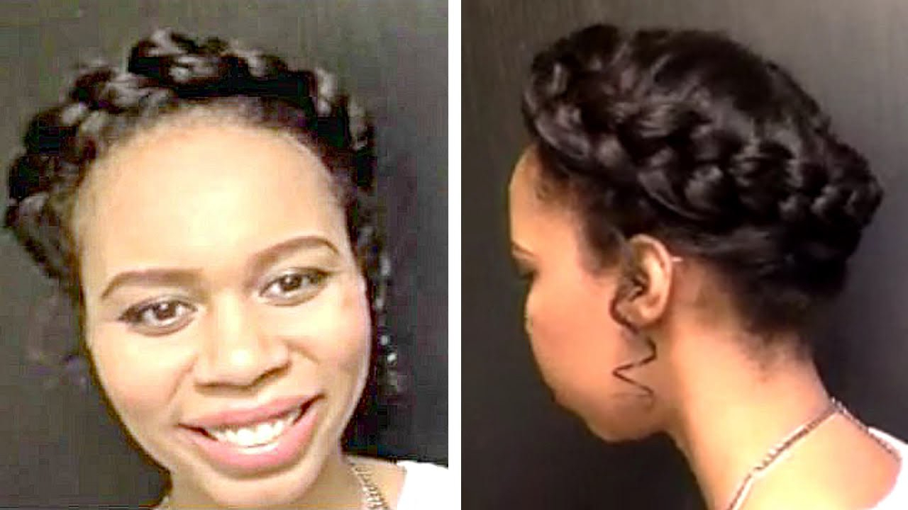 Halo Braid Wedding Updo Tutorial For Latest Updo Halo Braid Hairstyles (View 12 of 20)