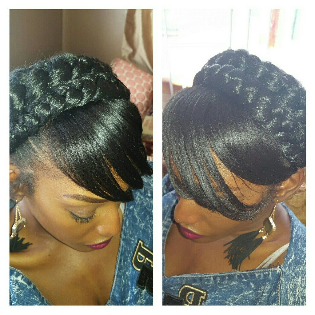 Featured Photo of Halo Braid Hairstyles With Bangs