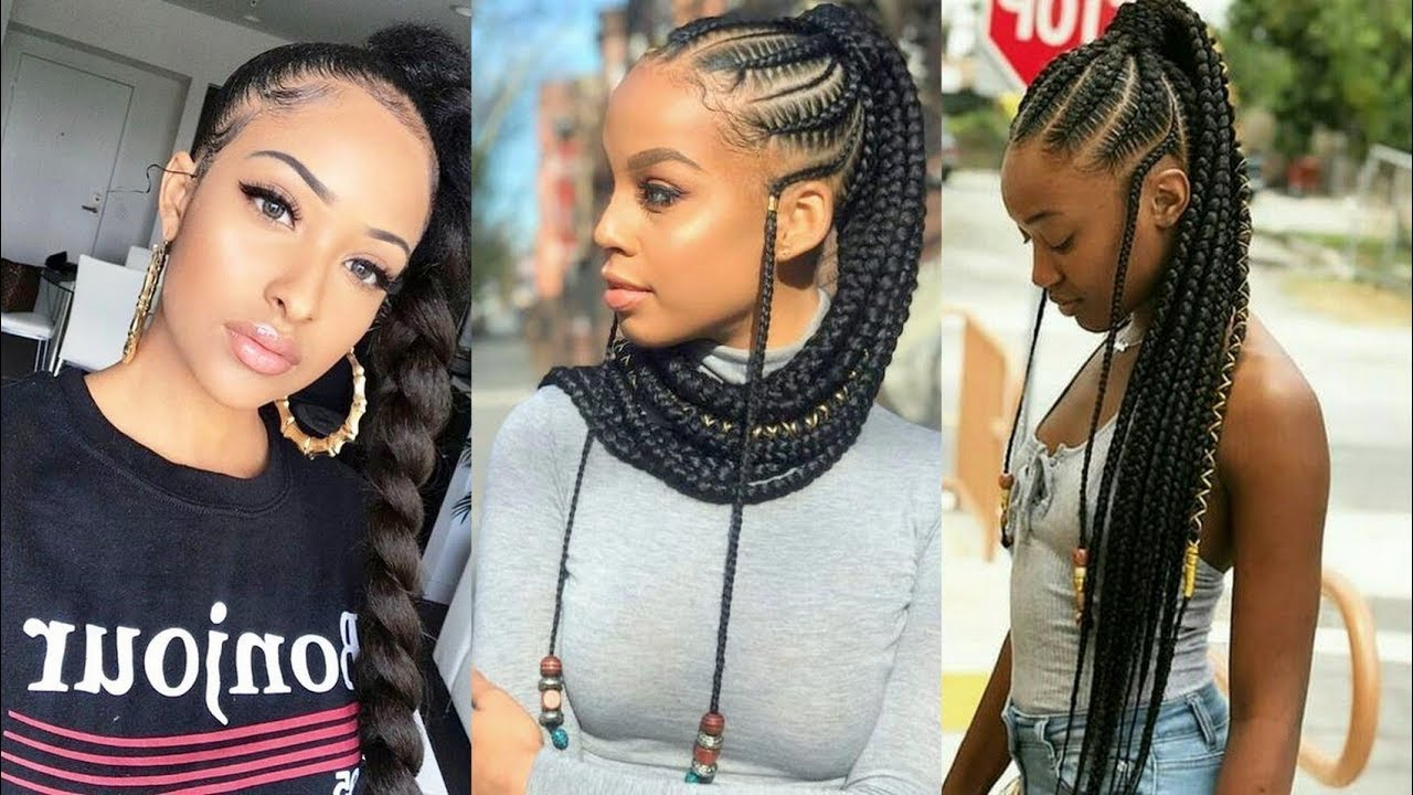 Hottest #braided Ponytail Hairstyles 2019 For African Women Throughout Popular Ponytail Braid Hairstyles (View 17 of 20)