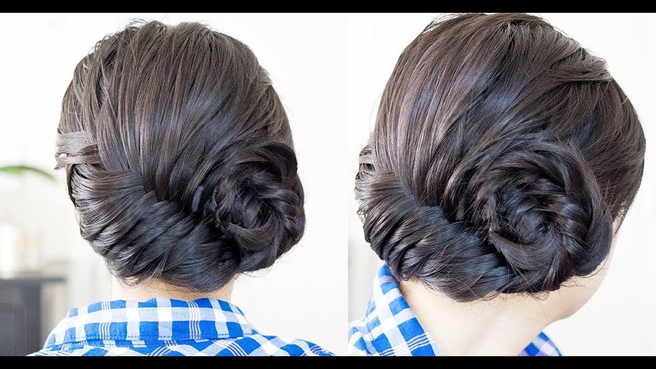 How To: Asymmetrical French Fishtail Braid Updo Tutorial Inside 2019 Asymmetrical French Braid Hairstyles (View 10 of 20)
