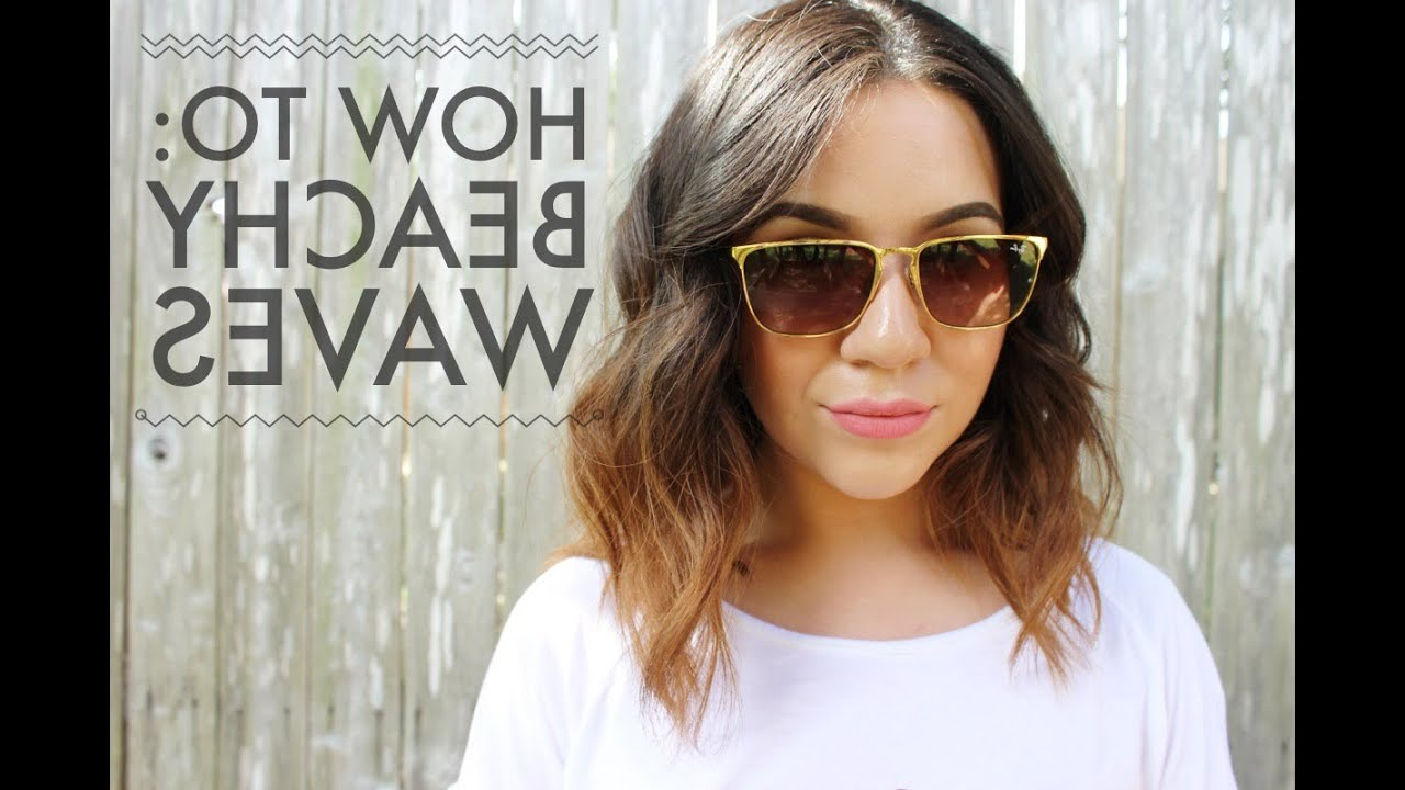 How To: Beachy Waves For Short To Medium Length Hair Within Best And Newest Mid Length Beach Waves Hairstyles (View 16 of 20)