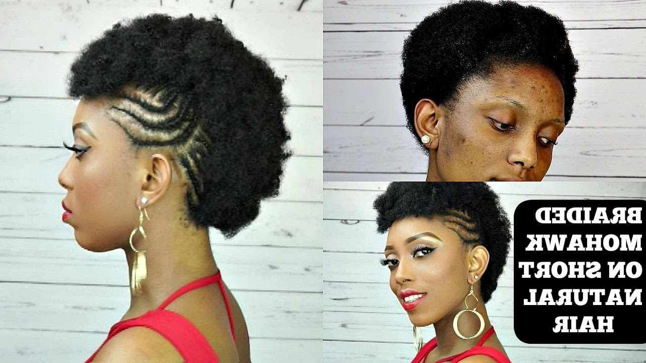 How To Braided Mohawk Tutorial On Short Natural Hair Intended For Well Liked Braided Frohawk Hairstyles (View 8 of 20)
