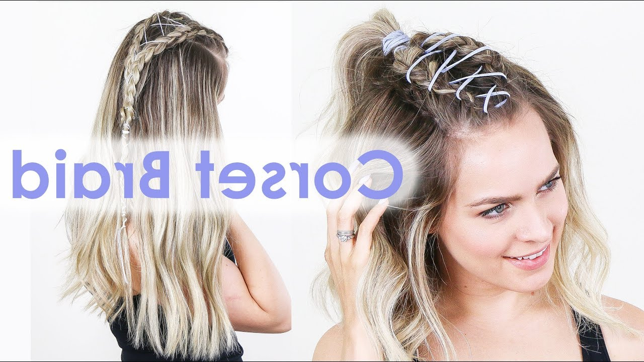 How To Corset Braid For Long & Short Hair! – Kayleymelissa Within Most Current Corset Braid Hairstyles (View 14 of 20)