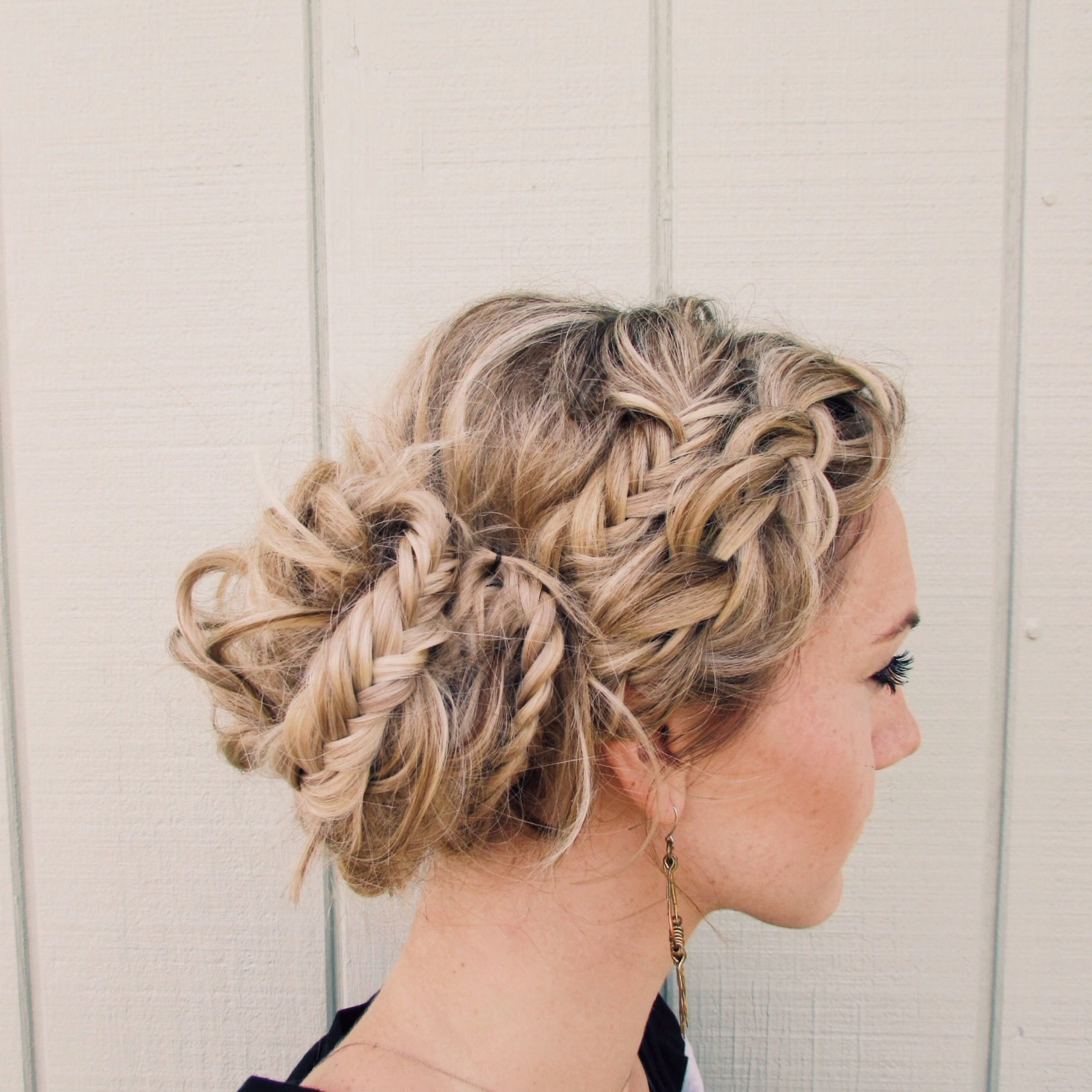 How To: Dutch Braid And Fishtail Braids Messy Bun (View 17 of 20)