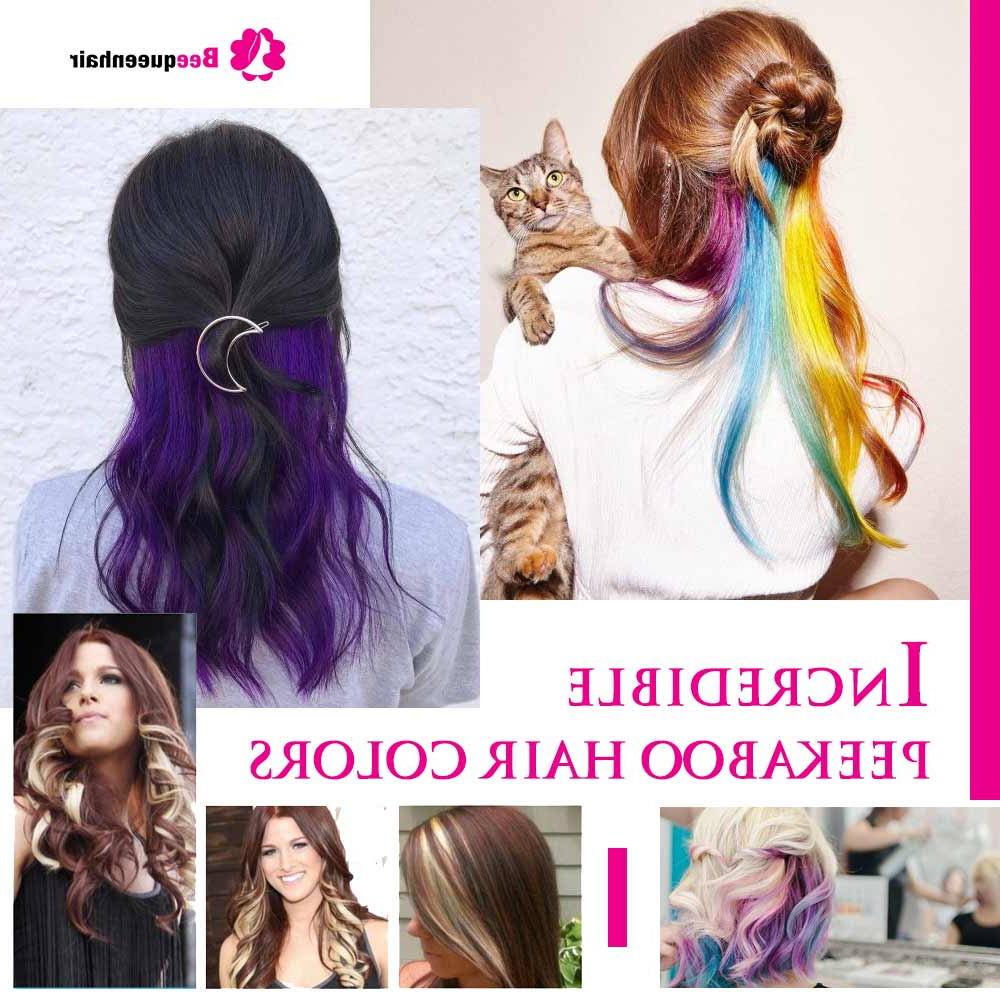 Incredible Peekaboo Hair Colors – Do You Want To Try? Intended For Preferred Peek A Boo Braid Hairstyles (Gallery 8 of 20)