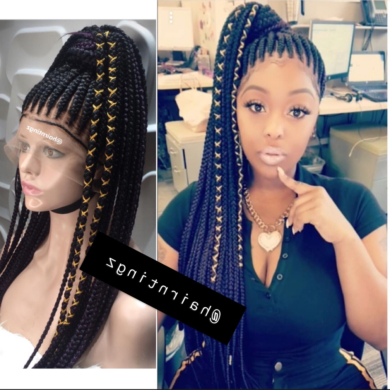 Jumbo High Ponytail ( Full Lace) Pertaining To Current High Ponytail Braid Hairstyles (View 15 of 20)