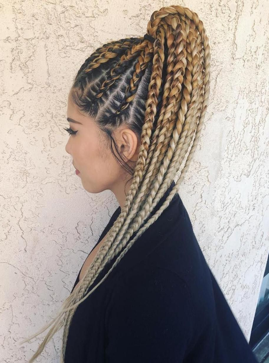 Latest Billowing Ponytail Braid Hairstyles Inside 20 Super Hot Cornrow Braid Hairstyles In (View 3 of 20)