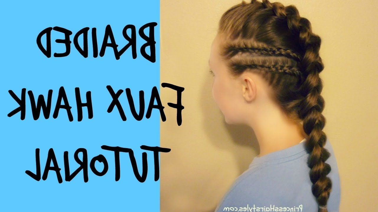 Latest Cornrow Accent Braids Hairstyles Throughout Braided Faux Hawk With Cornrow Accents Tutorial In (View 10 of 20)