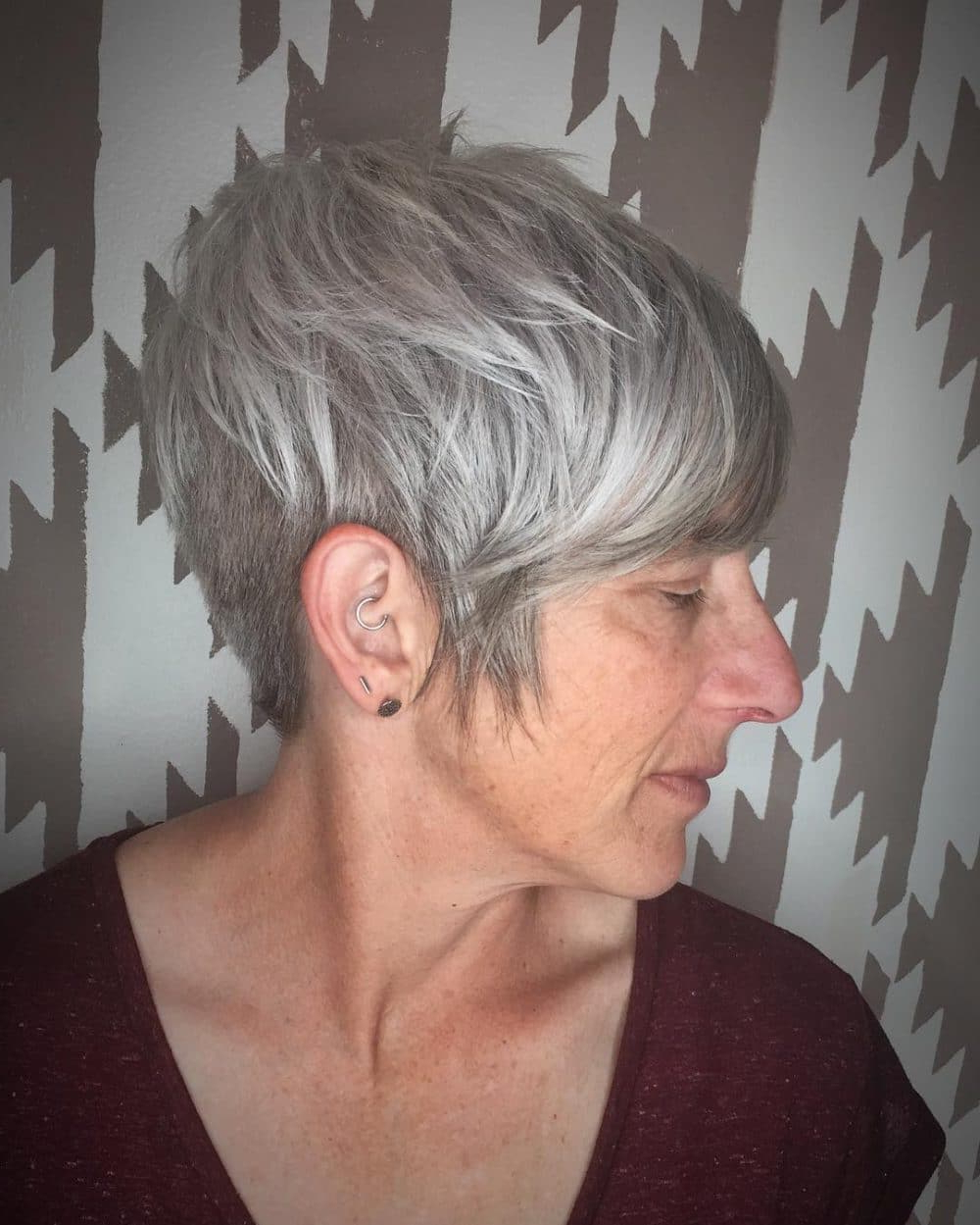 Latest Edgy Look Pixie Haircuts With Sass Throughout 43 Youthful Short Hairstyles For Women Over 50 In (View 14 of 20)