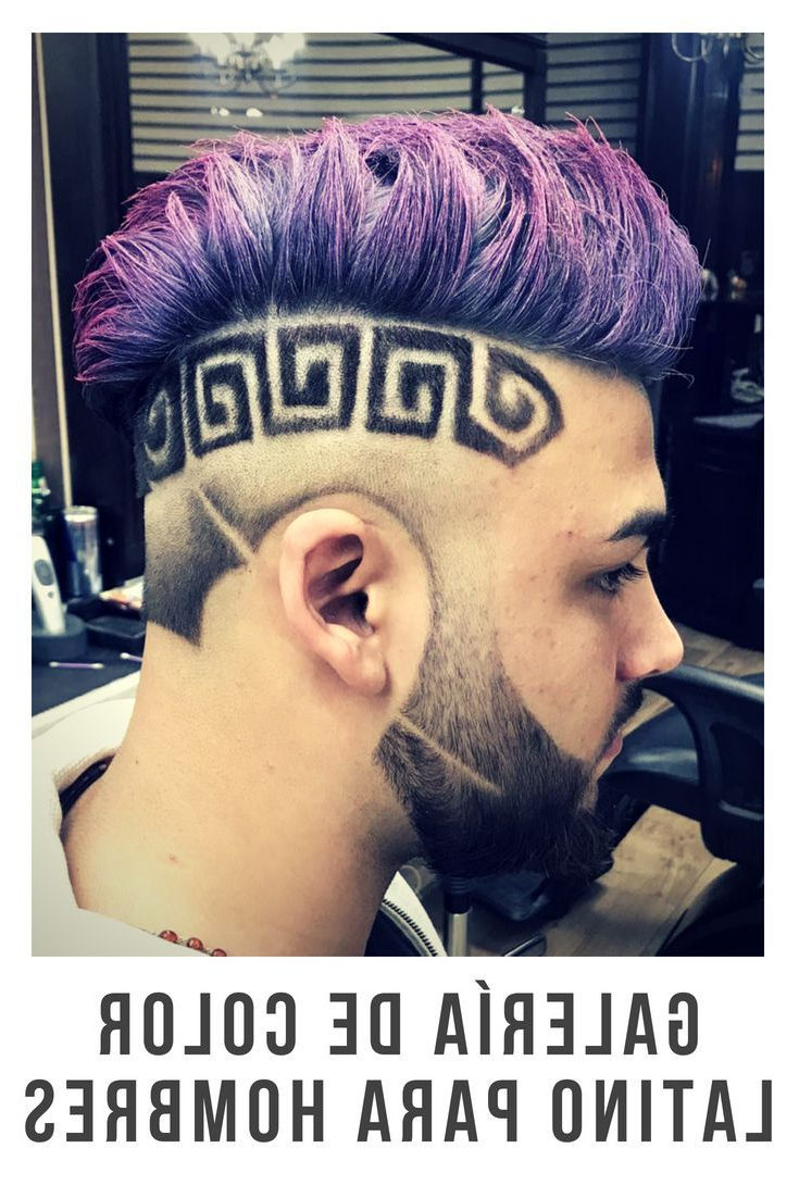 Latest Faux Hawk Fade Haircuts With Purple Highlights Within Pin On Albino (View 9 of 20)