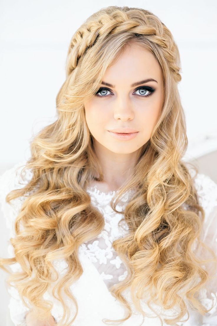 Latest Headband Braid Hairstyles With Long Waves Intended For 12 Pretty Braided Crown Hairstyle Tutorials And Ideas (View 15 of 20)
