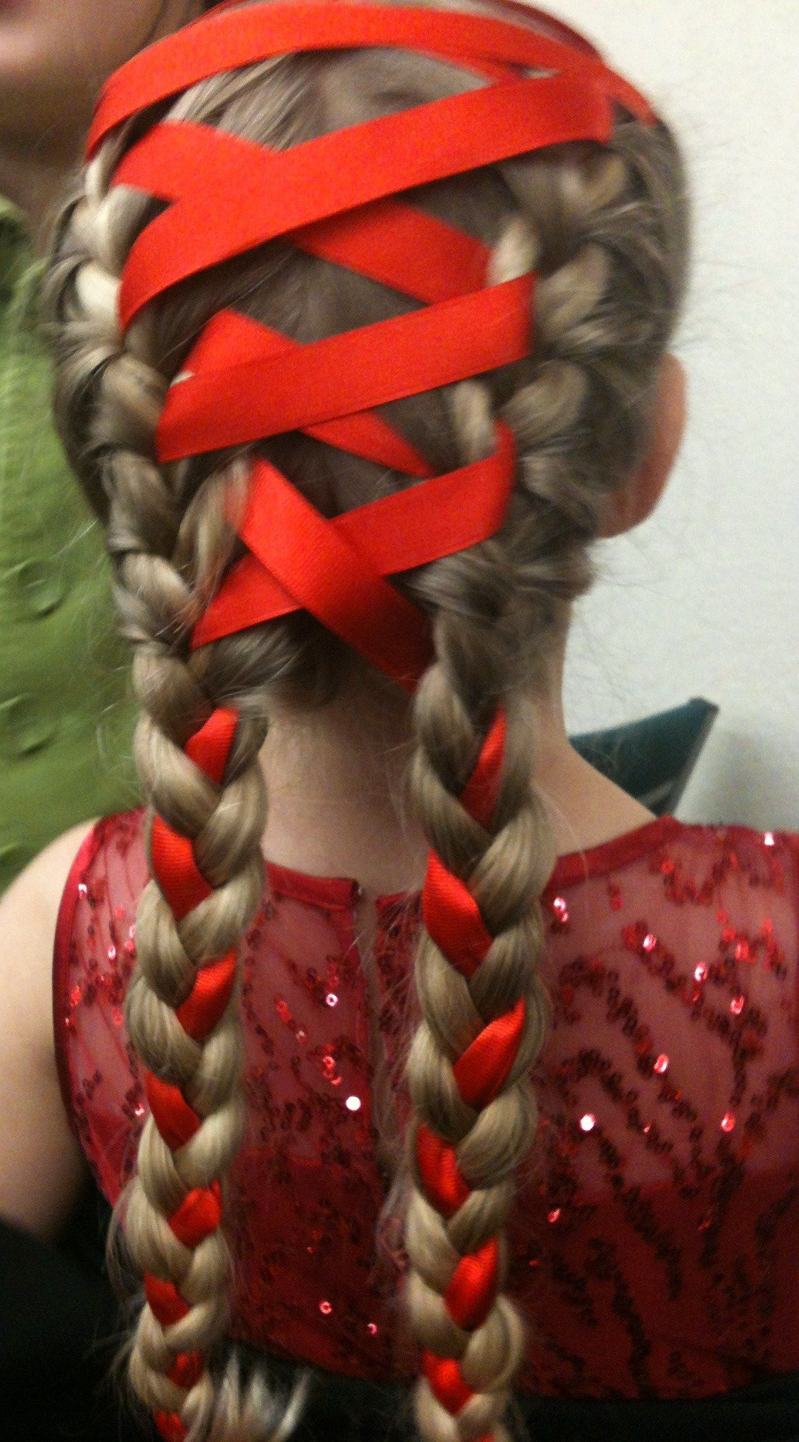 Latest Loose Spiral Braid Hairstyles With Regard To Ribbon Double French Braid (View 8 of 20)