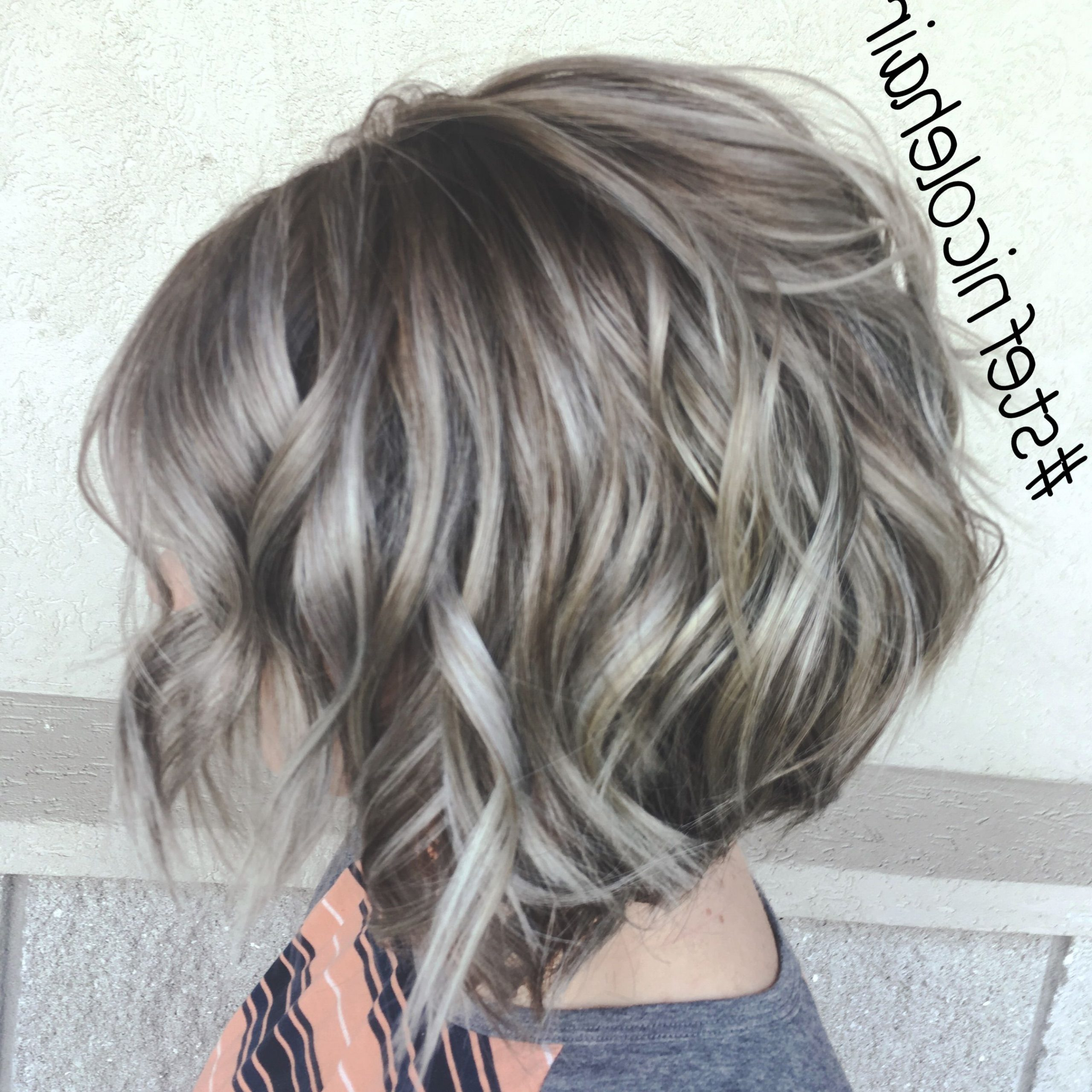 Latest Smokey Pastel Colors Pixie Haircuts Intended For Silver Hair Smokey Root (View 7 of 20)