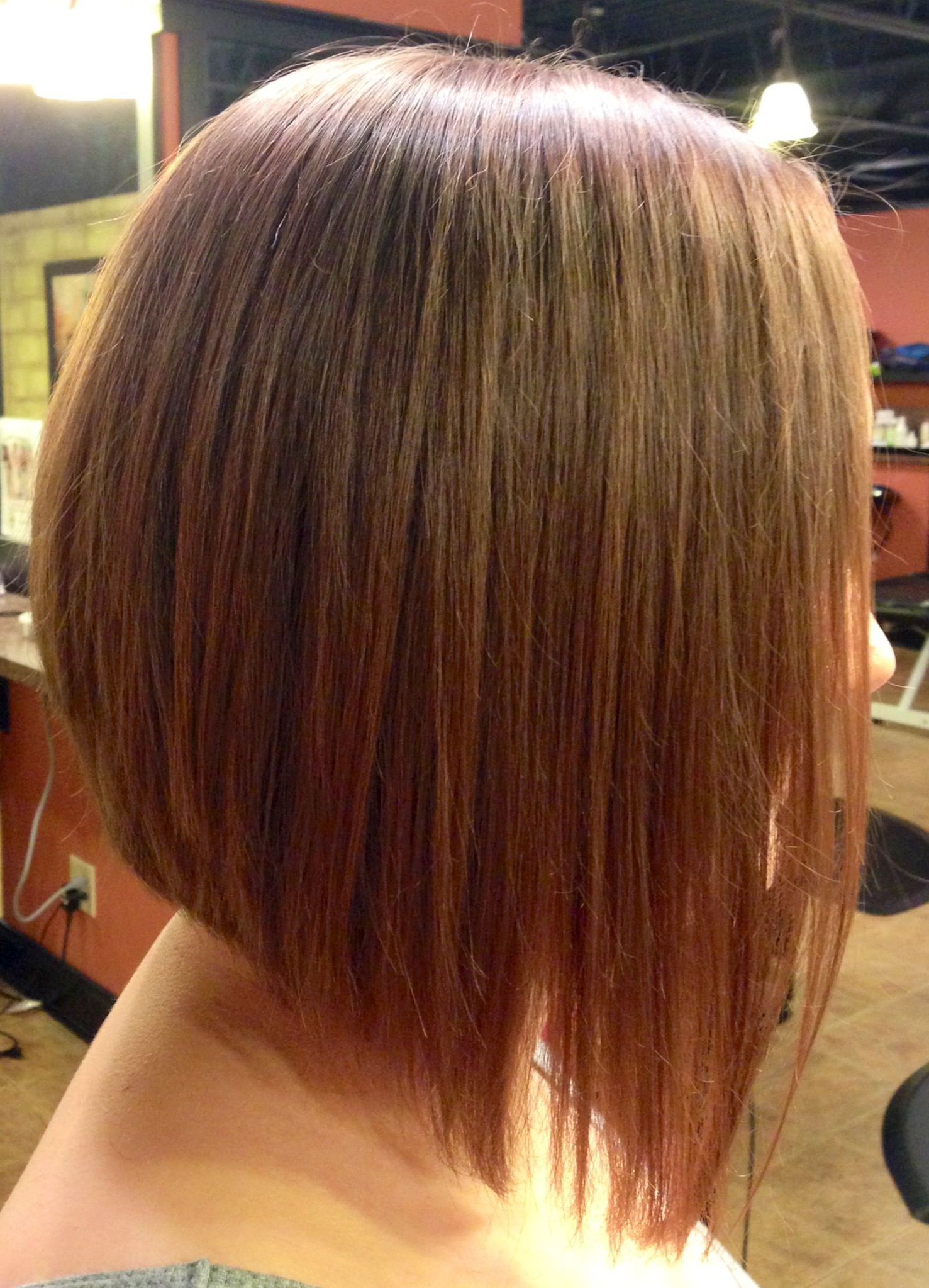 Latest Stacked Swing Bob Hairstyles Intended For Long Inverted Bob With A Dramatic Angle (View 9 of 20)