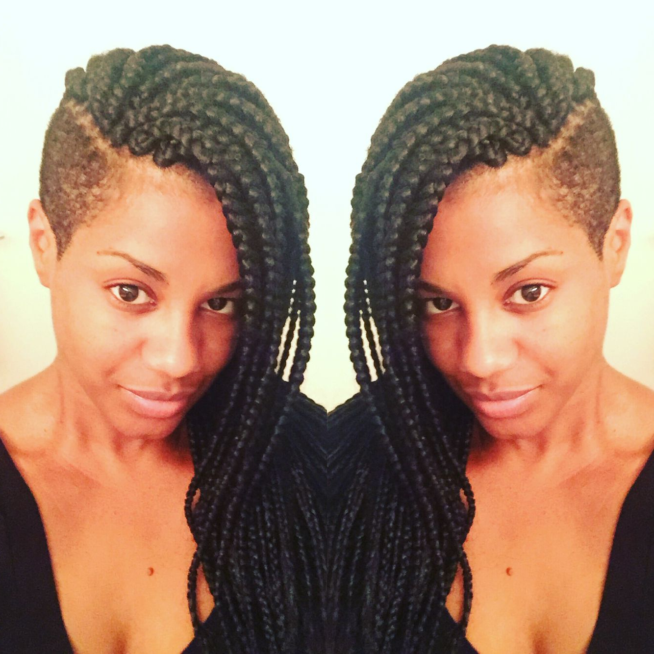 Latest Tapered Tail Braid Hairstyles For Love My Hair With Tapered Sides! #braids #shaved Sides (View 11 of 20)