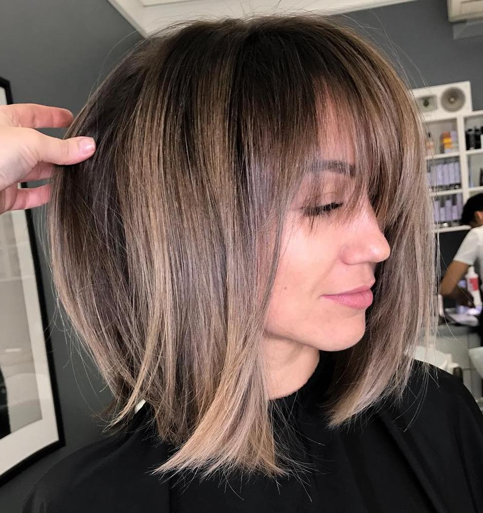 Latest Wispy Bob Hairstyles With Long Bangs Within 35 Instagram Popular Ways To Pull Off Long Hair With Bangs (View 14 of 20)