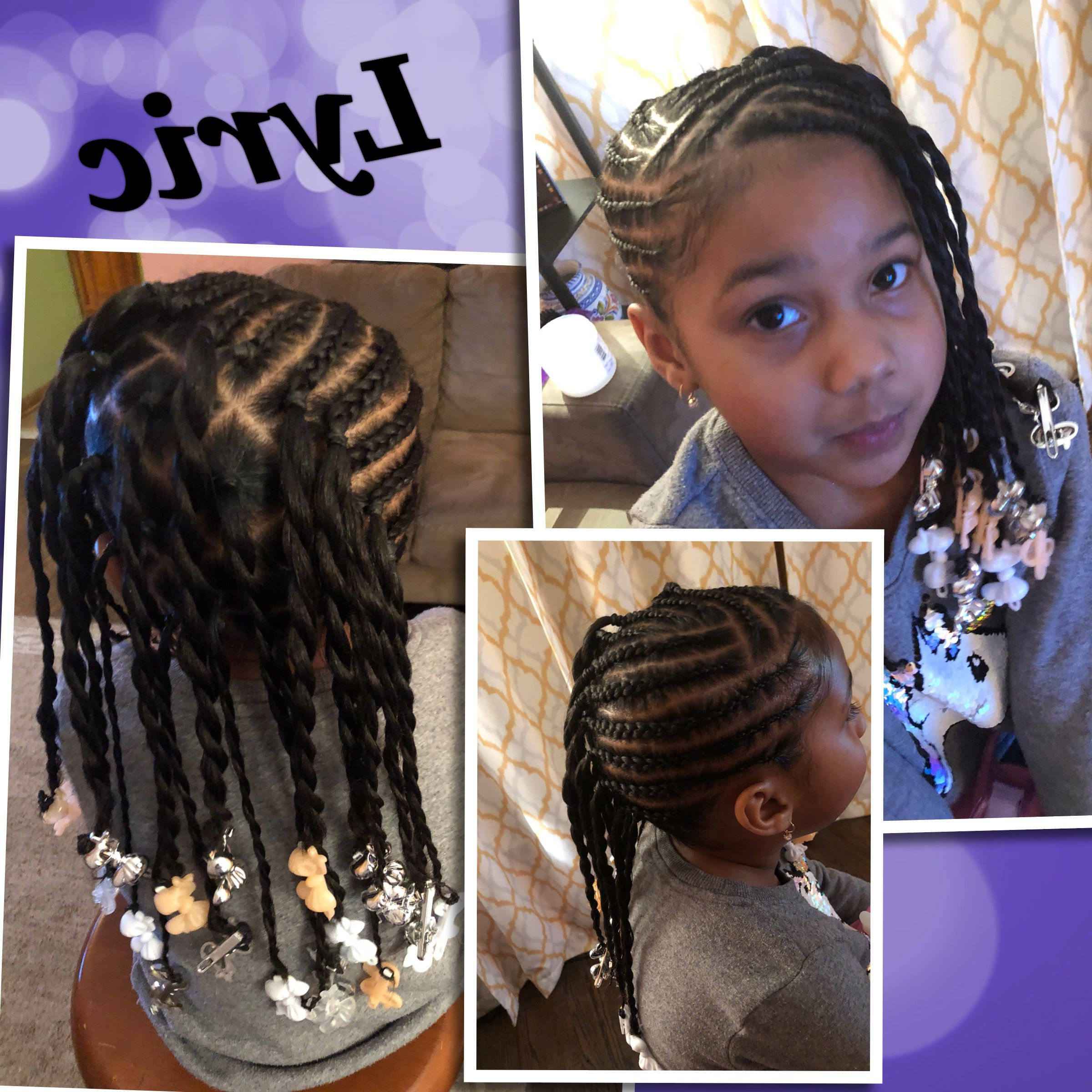 Little Girl Braids Side Braids With Ponytails (View 12 of 20)