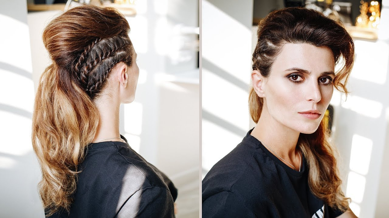 Long Hair Faux Hawk Tutorial With Braids In Famous Faux Hawk Braid Hairstyles (View 15 of 20)