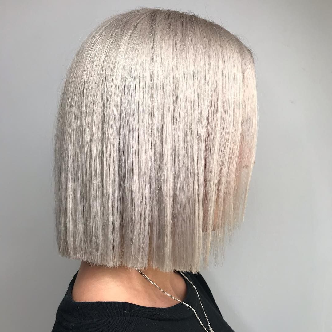 Lovely Sharp Blonde Blunt Bobhannah Brandham Hair In Well Known Sharp And Blunt Bob Hairstyles With Bangs (View 18 of 20)