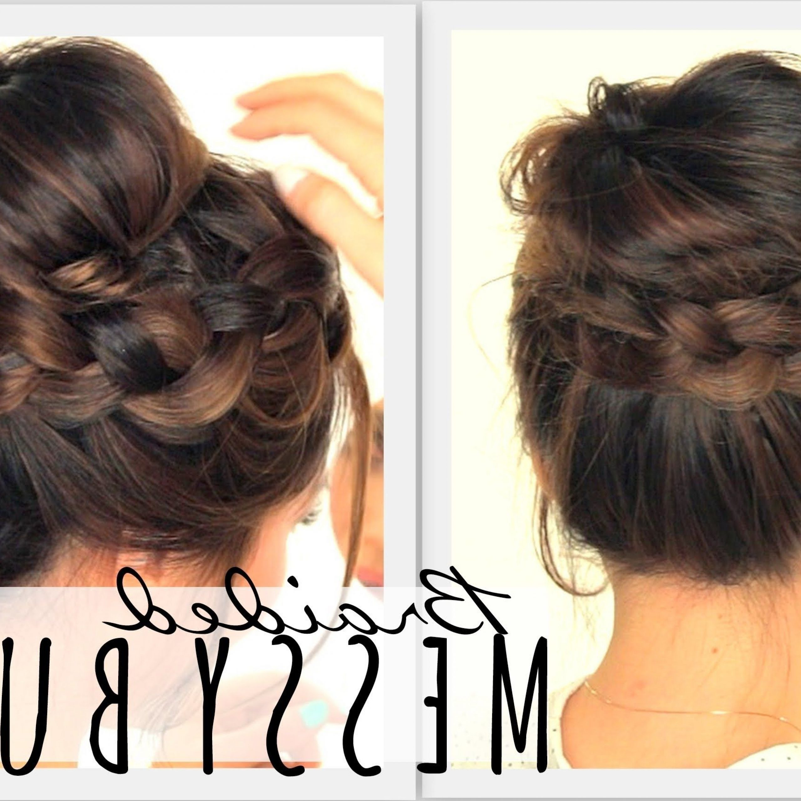 Messy Bun Crown Braid (View 12 of 20)