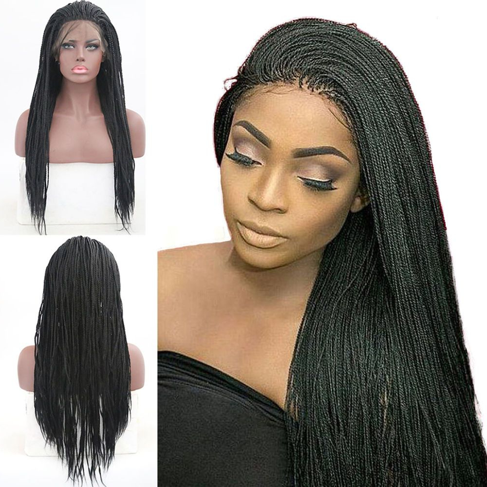 Micro Braids Wigs Synthetic Crochet Braiding Dreads Lace In Best And Newest Ultra Thin Micro Braids Hairstyles (View 9 of 20)