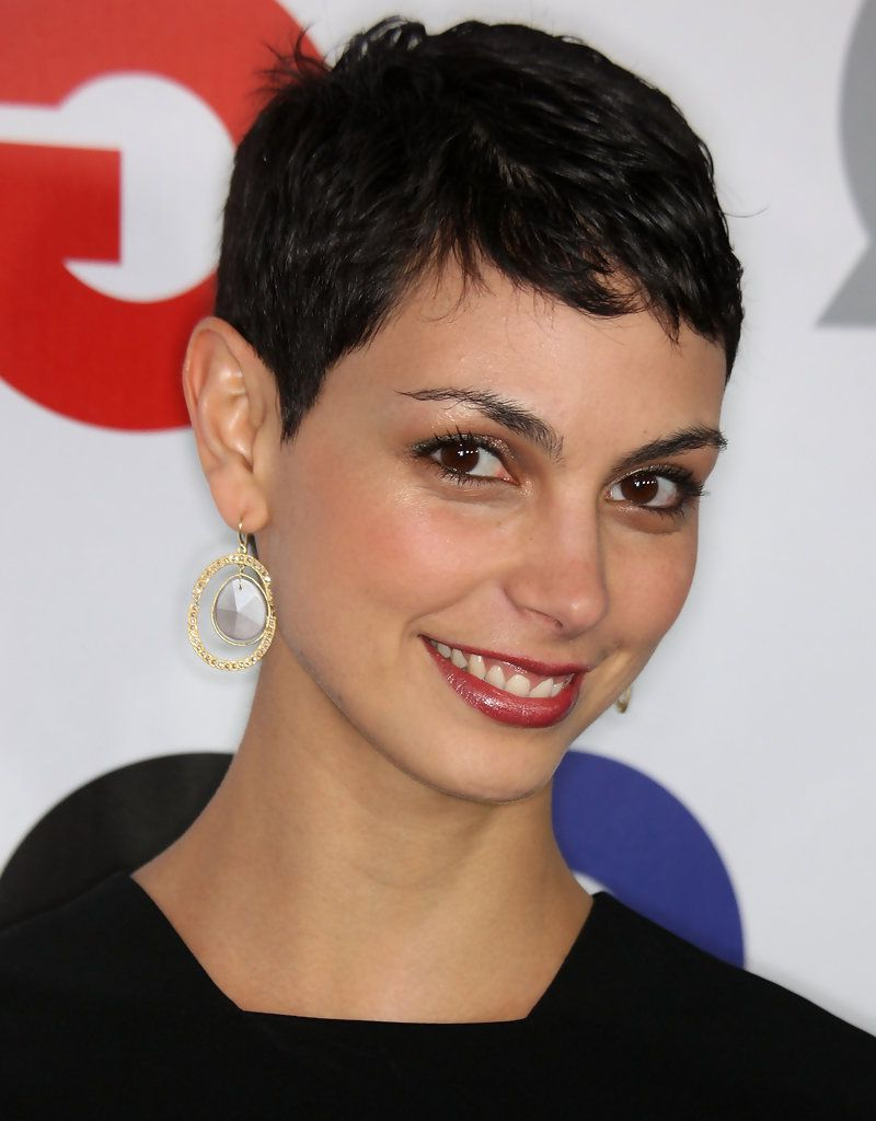"Morena Baccarin Photos Photos: 14Th Annual Gq ""men Of The With Regard To 2018 Morena Pixie Haircuts With Bangs (View 8 of 20)"