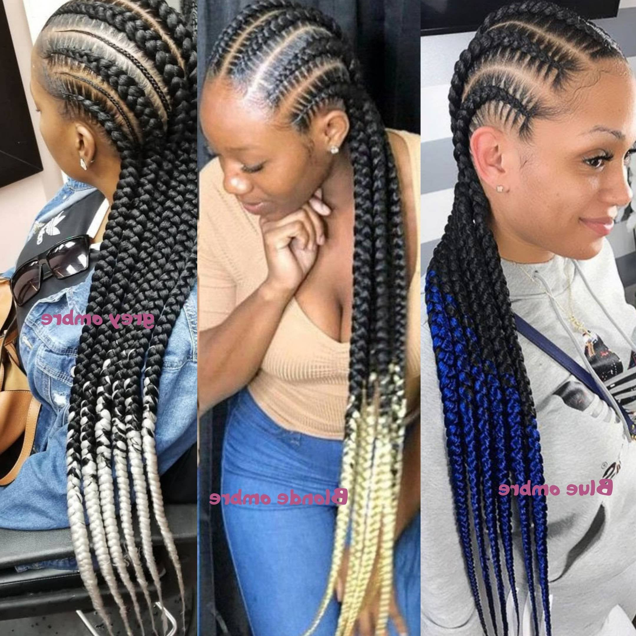 Most Current Accessorized Straight Backs Braids Throughout Full Lace Ombre Braided Wig Stitch Feed In Cornrow Wig Box (View 2 of 20)