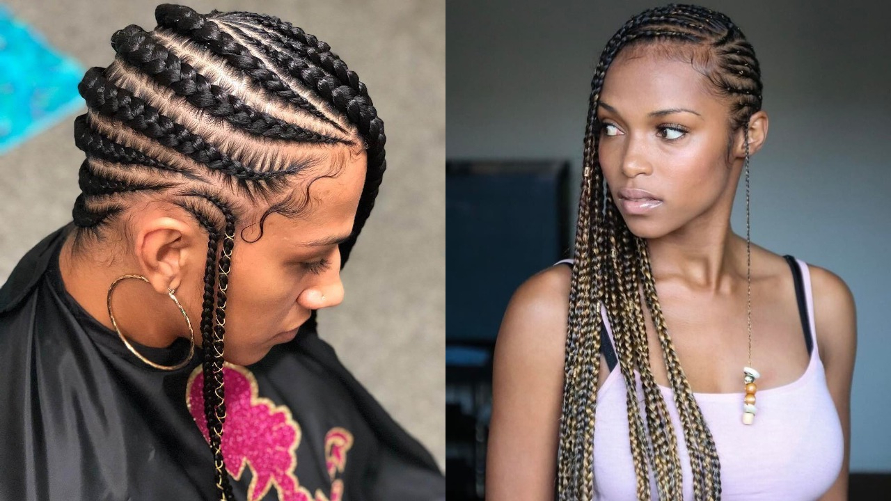 Most Current Billowing Ponytail Braid Hairstyles With 25 Lemonade Braids Hairstyles For All Ages Women (View 17 of 20)