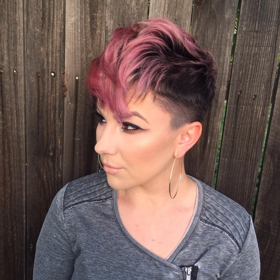Most Current Edgy Textured Pixie Haircuts With Rose Gold Color Within Cool Rose Gold Pixie (View 8 of 20)