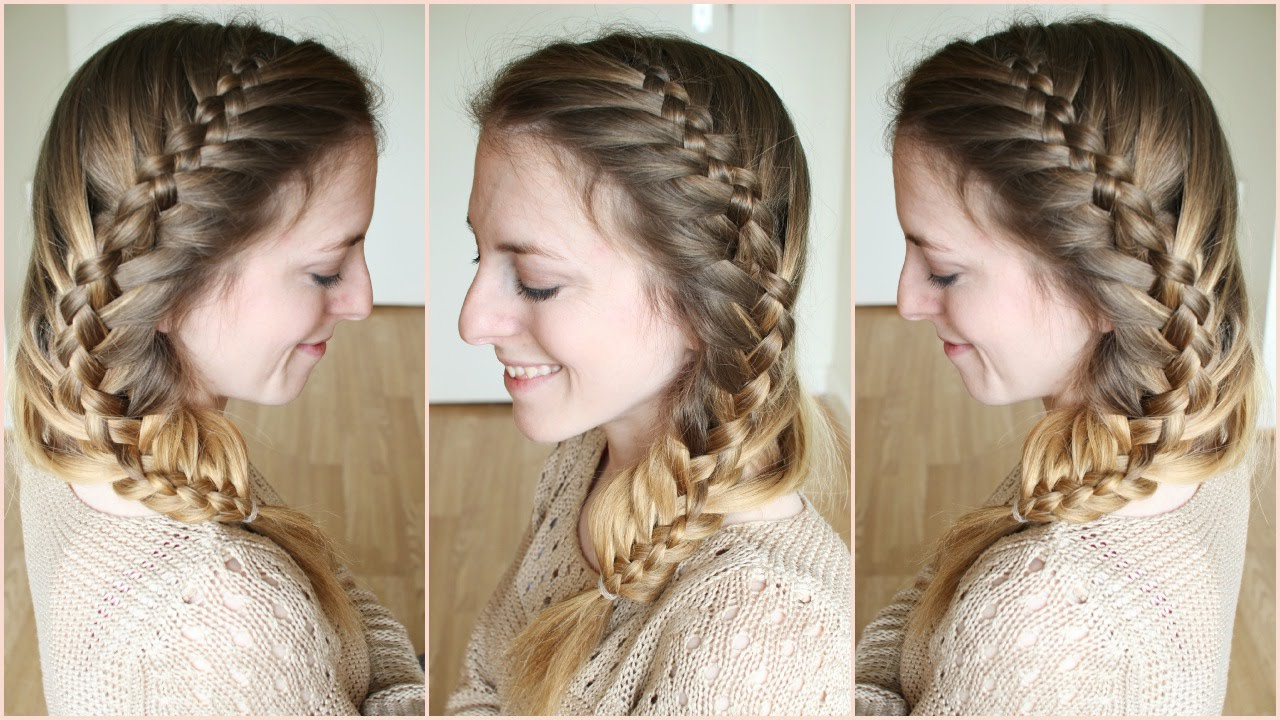 Most Current Fishtail Side Braid Hairstyles Within Side Woven French Fishtail Braid (View 7 of 20)